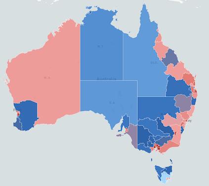Mapping Australia SA4 Population using Mapbox